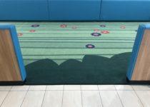 Custom carpet in play area