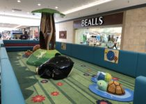 Forest themed play area in South Park Mall