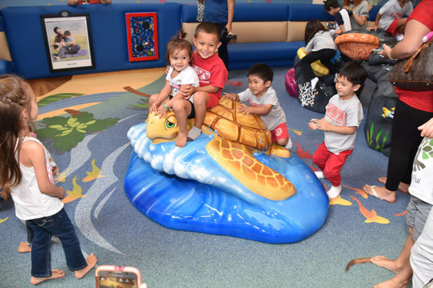 Windward Mall play area with sea turtle